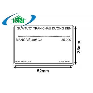 Decal tem nhiệt 52x33 mm dài 30m