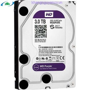 ổ cứng camera sata 3 WD PURPLE 3.0TB