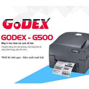 Máy in mã vạch godex g500 chuyên dùng cho văn phòng, cửa hàng bán lẻ, shop thời trang, siêu thị v.v...