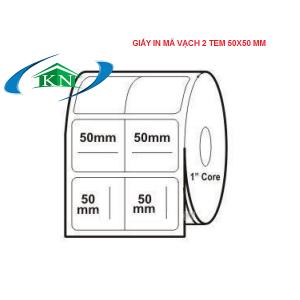 2 tem vuông 50x50 giấy in mã vạch