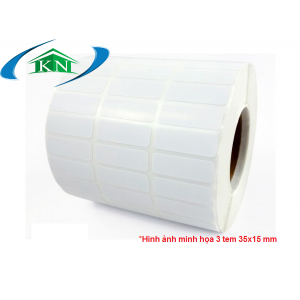 Cuộn giấy in tem nhãn 3 tem 35x15