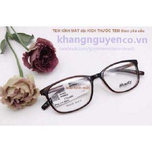 Tem kính mắt decal giấy thường